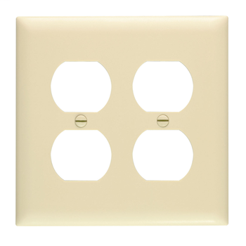 Duplex Receptacle Openings, Two Gang, Ivory