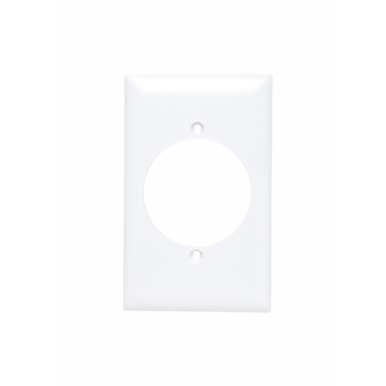 Pass & Seymour TP724-W 1-Gang 1-Power Outlet Receptacle White Nylon Standard Unbreakable Wallplate