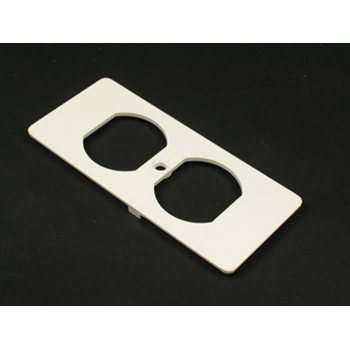 Wiremold 5507D Non-Metallic Duplex Ivory Faceplate