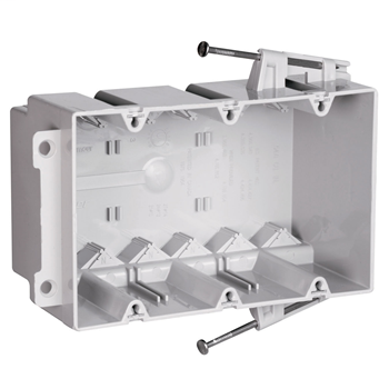 "Pass & Seymour S3-54-RAC 3-31/32 x 5-25/32 x 3"" 54"" 3-Gang Thermoplastic Switch and Outlet Box"