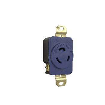 P&S L520-RBL 20A 125V BLUE TURNLOK