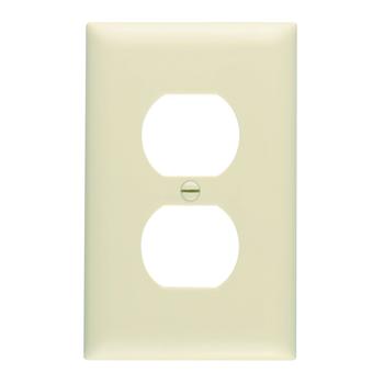 Pass & Seymour TP8-I 1-Gang 1-Duplex Receptacle Ivory Nylon Standard Unbreakable Wallplate