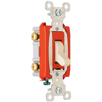 Pass & Seymour PS20AC2-W 20 Amp 120/277 VAC 2-Pole White Glass Reinforced Nylon Screw Mounting Toggle Switch