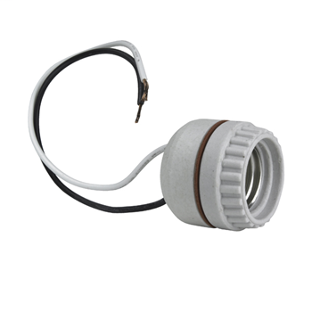Pass & Seymour 8101 250V 660W White Porcelain 2-Piece 1-Circuit Medium Base Incandescent Lampholder