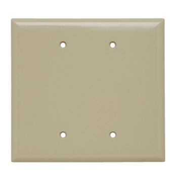 Pass & Seymour SPO23-I 2-Gang Blank Ivory Smooth Thermoset Plastic Jumbo Wallplate