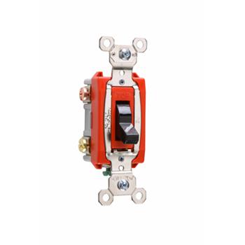 Pass & Seymour PS20AC2-BK 20 Amp 120/277 VAC 2-Pole Black Glass Reinforced Nylon Screw Mounting Toggle Switch