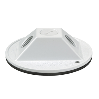 "4"" Round Outdoor Cluster Cover, White WPRB12W"
