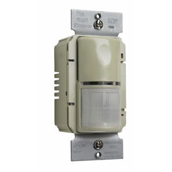 Pass & Seymour WSP250-I Passive Infrared Wall Switch Sensor, 1050 Sq.Ft. Coverage, 120 Vac 60 Hz/277 Vac 60Hz, Ivory