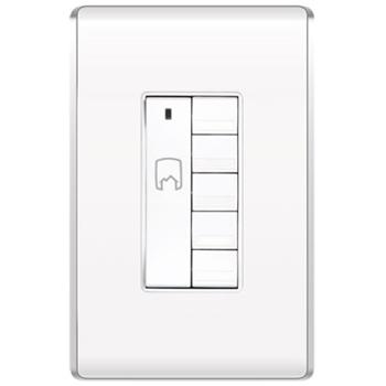 "Wattstopper DRD5-W V2 2.64 x 1.75 x 1.76"" 120/277 VAC White In-Wall Wireless Decorator House Scene Controller"