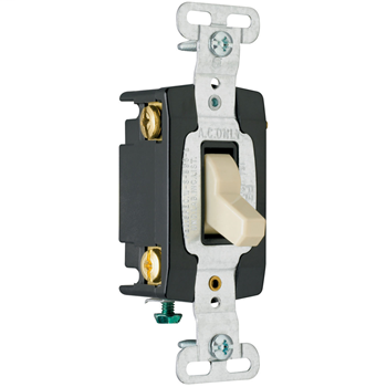 Mayer-Hard Use Specification Grade Switch, Gray CSB15AC4GRY-1
