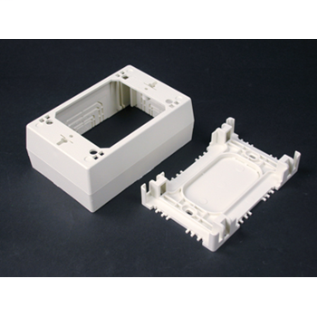 Wiremold NM2048 4-3/4 x 3 x 1-3/4 Inch Ivory Non-Metallic 1-Channel Raceway Sure Snap Deep Device Box
