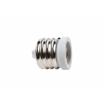 250V, 600W Mogul to Medium Socket Adapter, White 8681