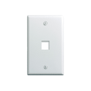 Mayer-1-Gang, 1-Port Wall Plate, White WP3401-WH-1
