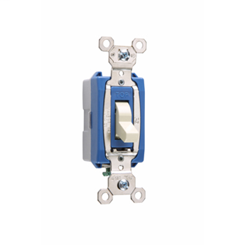 Pass & Seymour PS15AC1-WSL 15 Amp 120/277 VAC 1-Pole White Glass Reinforced Nylon Screw Mounting Lighted Toggle Switch