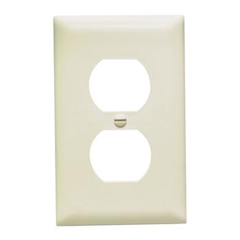 Pass & Seymour TP8-LA 1-Gang 1-Duplex Receptacle Light Almond Nylon Standard Unbreakable Wallplate