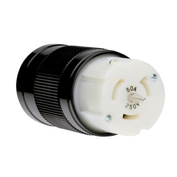 Pass & Seymour CS8264 50 Amp 250 VAC 3-Wire Non-NEMA Nylon Locking Connector
