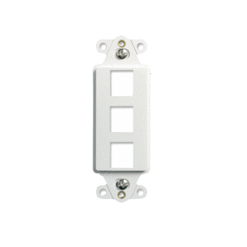 Mayer-3-Port Decorator Outlet Strap, White WP3413-WH-1