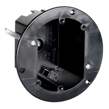 "Pass & Seymour C1-18-WAC 3-3/4"" Round Plastic Captive Mounting Nail Swing Bracket Ceiling Box"