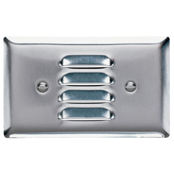 Pass & Seymour SS760-W 1-Gang Horizontal Louver White Painted Smooth Brushed Stainless Steel Standard Wallplate