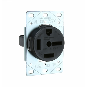 Pass & Seymour 5760 60 Amp 250 VAC 3-Phase 3-Pole 4-Wire NEMA 15-60R Straight Blade Power Receptacle