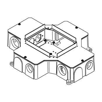 WIREMOLD RFB4-CI-1 4G CAST IRON FLOOR BOX