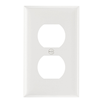 Pass & Seymour SP8-W 1-Gang 1-Duplex White Smooth Thermoset Plastic Standard Wallplate
