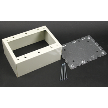 Wiremold V5744-3 Ivory 3 Gang 2-3/4 Inch Extra Deep Device Box For 500 & 700 Series Raceway Steel