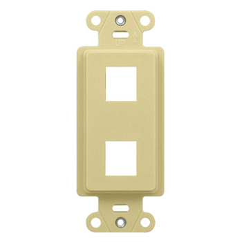 On-Q WP3412-IV 1.65 x 0.28 x 4.19 Inch 2-Port Ivory Plastic Wall Box Mounting Non-Flexible Outlet Strap