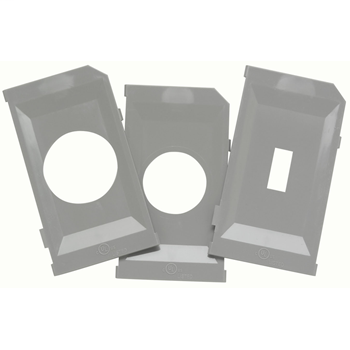 While-In-Use Cover Extra Plate Kit, Gray WIU10PK