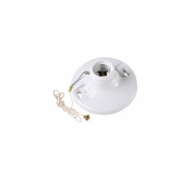 Pass & Seymour 280-WH 250 Volt 250 W White Phenolic Medium Base Incandescent Lampholder