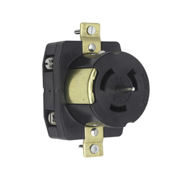 Pass & Seymour CS8269 50 Amp 250 VAC 3-Wire Non-NEMA Nylon Locking Receptacle