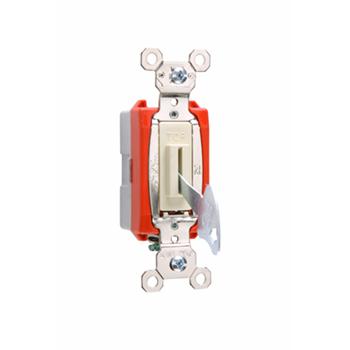 Pass & Seymour PS20AC1-IL 20 Amp 120/277 VAC 1-Pole Ivory Glass Reinforced Nylon Screw Mounting Key Lock Switch