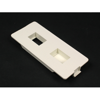 Wiremold 5507FRJ Non-Metallic Flush Ivory Faceplate