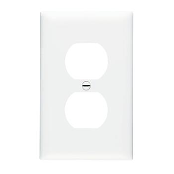 Pass & Seymour TPJ8-W 1-Gang 1-Duplex Receptacle White Nylon Jumbo Unbreakable Wallplate