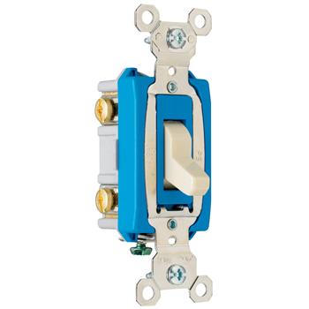Pass & Seymour PS15AC2-I 15 Amp 120/277 VAC 2-Pole Ivory Glass Reinforced Nylon Screw Mounting Toggle Switch