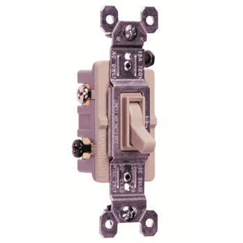 NAFTA-Compliant TradeMaster Grounding Toggle Switch, Light Almond 663LAG