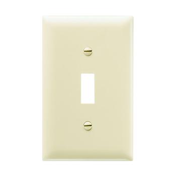 Pass & Seymour TP1-I 1-Gang 1-Toggle Switch Ivory Nylon Standard Unbreakable Wallplate