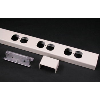 "Wiremold 25DTP-B 28 x 2-1/4 x 1"" Ivory Steel Duplex Receptacle Cover"