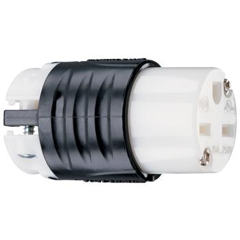 Mayer-15A, 250V Extra-Hard Use Spec-Grade Connector, Black & White PS5669X-1