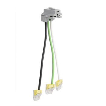 "PlugTail® Connectors, Right Angle with Push-In Connectors, Stranded, 6"" PTRA6STRBP"