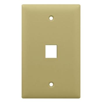 On-Q WP3401-IV 1-Gang 1-Port Ivory High Impact Flame Retardant Plastic Keystone Wallplate