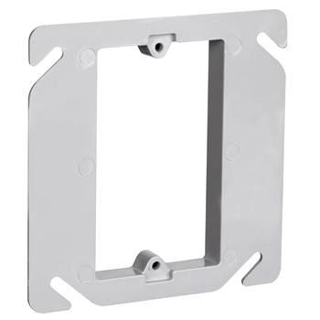 Pass & Seymour RC-1 4-1/4 x 4-1/4 Inch 3.2 In Plastic Raised Square Box Cover