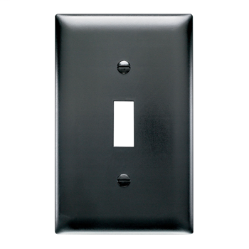 Pass & Seymour TP1-BK 1-Gang 1-Toggle Switch Black Nylon Standard Unbreakable Wallplate