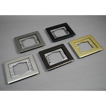 Wiremold 838TCAL 3-Gang Aluminum Tile Flange Floor Box Plate Cover.