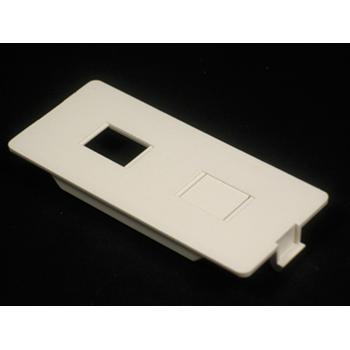Wiremold 5507RJ Non-Metallic Dual RJ Device Ivory Plate