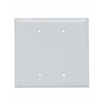 Pass & Seymour SPO23-W 2-Gang Blank White Smooth Thermoset Plastic Jumbo Wallplate