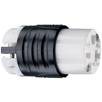 Mayer-20A, 250V Extra-Hard Use Spec-Grade Connector, Black & White PS5469X-1