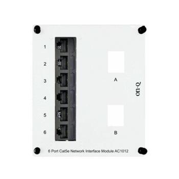 6-Port Cat 5e Network Interface Module AC1012