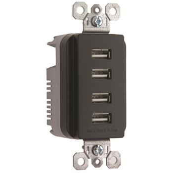 PS TM8USB4-BKCC6 RADIANT QUAD USB4.2A BK