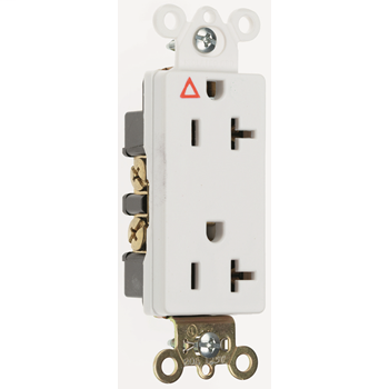 Mayer-Isolated Ground Heavy-Duty Decorator Spec Grade Receptacles, Back & Side Wire, 20A, 125V, White IG26362W-1